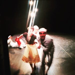 photo: actor-dancers exit into the wings