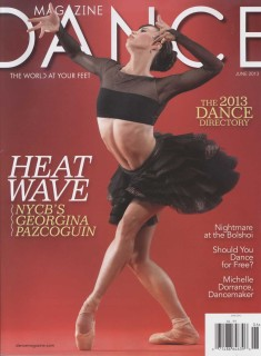 image: the cover of Dance Magazine (June 2013) featured Georgina Pazcoguin