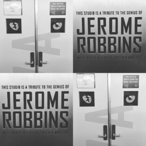 sign: entry to Jerome Robbins Studio