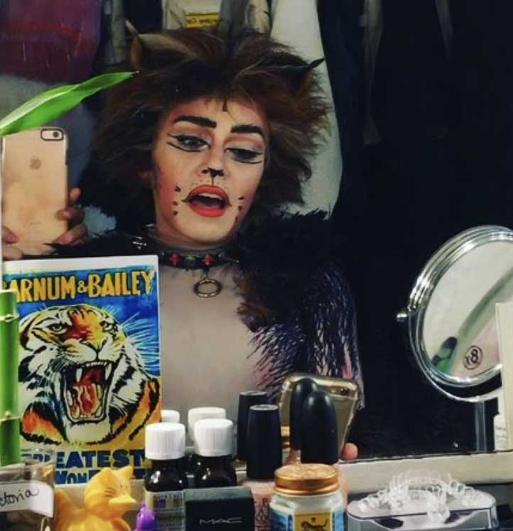 photo: backstage at Cats on Broadway