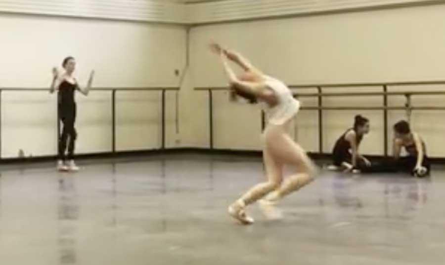 photo: Georgina Pazcoguin at dance practice